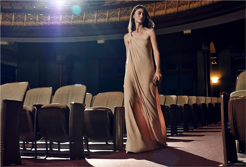 Rachel Zoe One Shoulder Silk Maxi Dress
