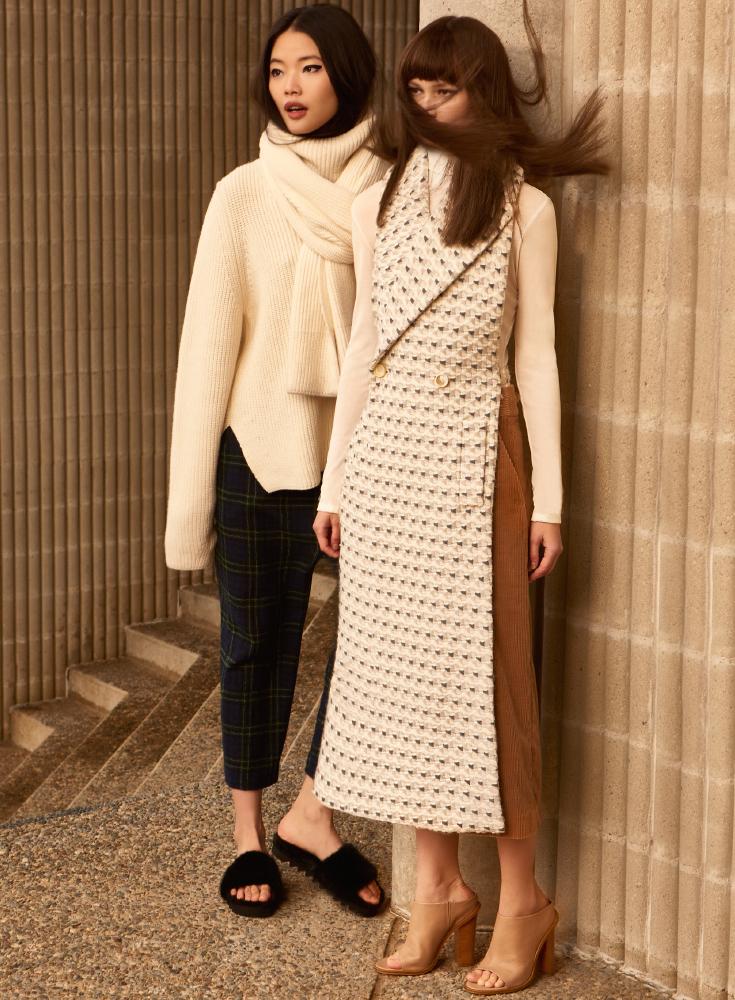Rosetta Getty Wool Cotton Tailored Scarf