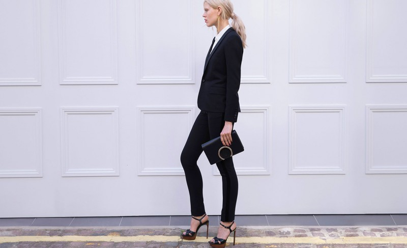 Saint Laurent Velvet-stripe tuxedo trousers