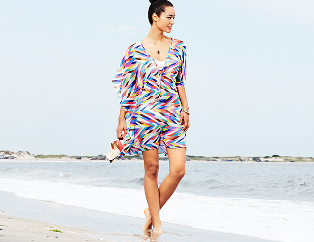 Bleu Rod Beattie Road To Baja Caftan Cover-Up