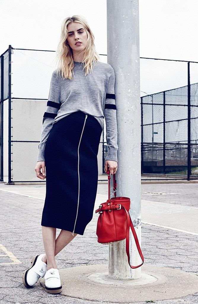 T by Alexander Wang Merino Stripe Pullover