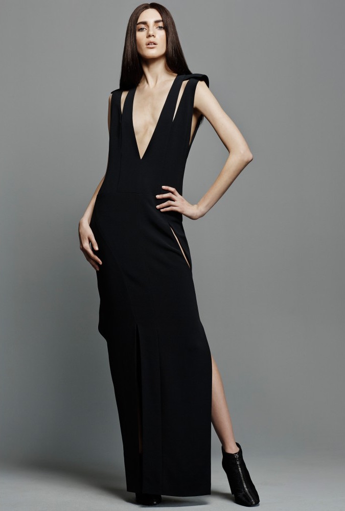 TOM FORD Cut-out Crepe Gown