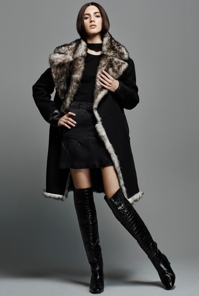 TOM FORD Fur-lined Wool Coat