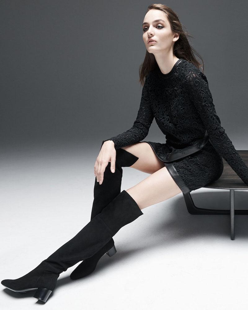 TOM FORD Long-Sleeve Faux-Wrap Dress
