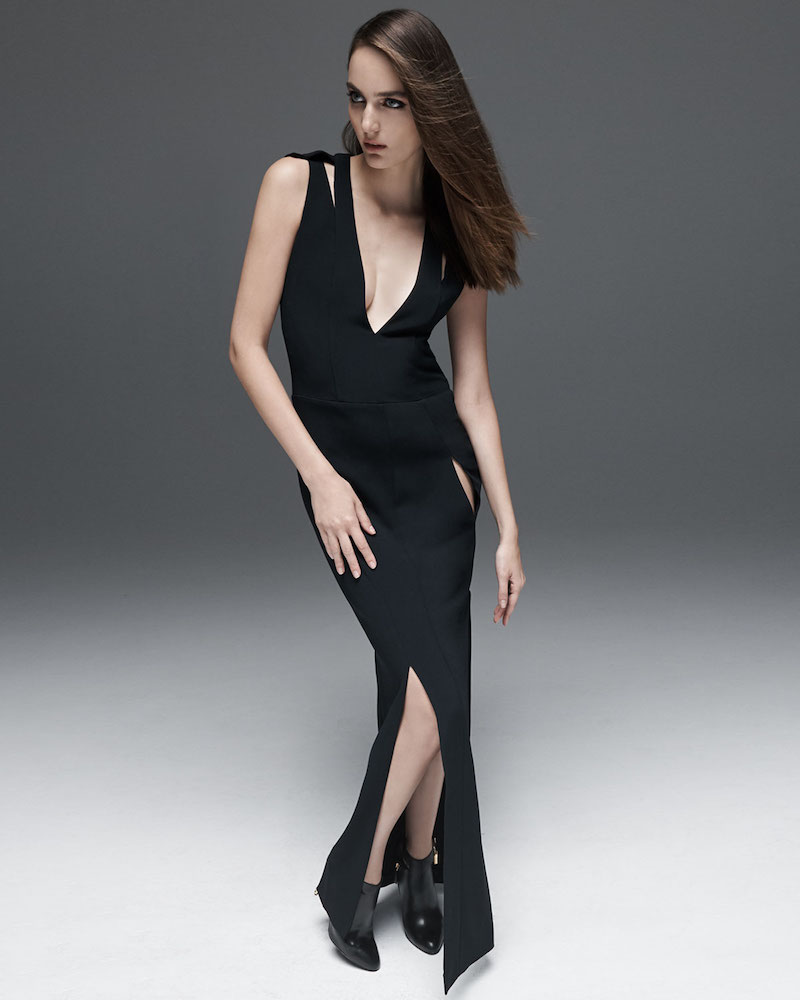 TOM FORD Sleeveless Double-Strap V-Neck Gown