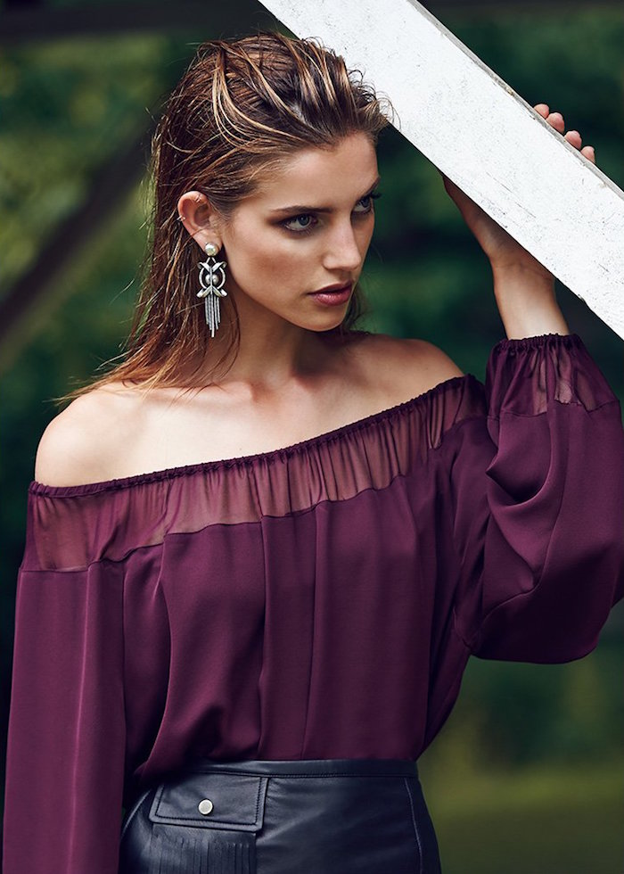 Tamara Mellon Off Shoulder Blouse