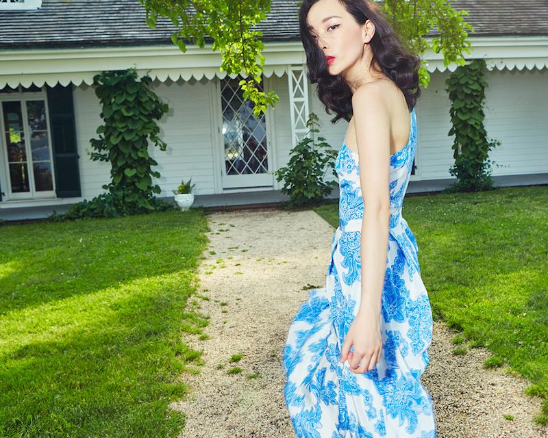 Tanya Taylor Floral One Shoulder Amy Dress