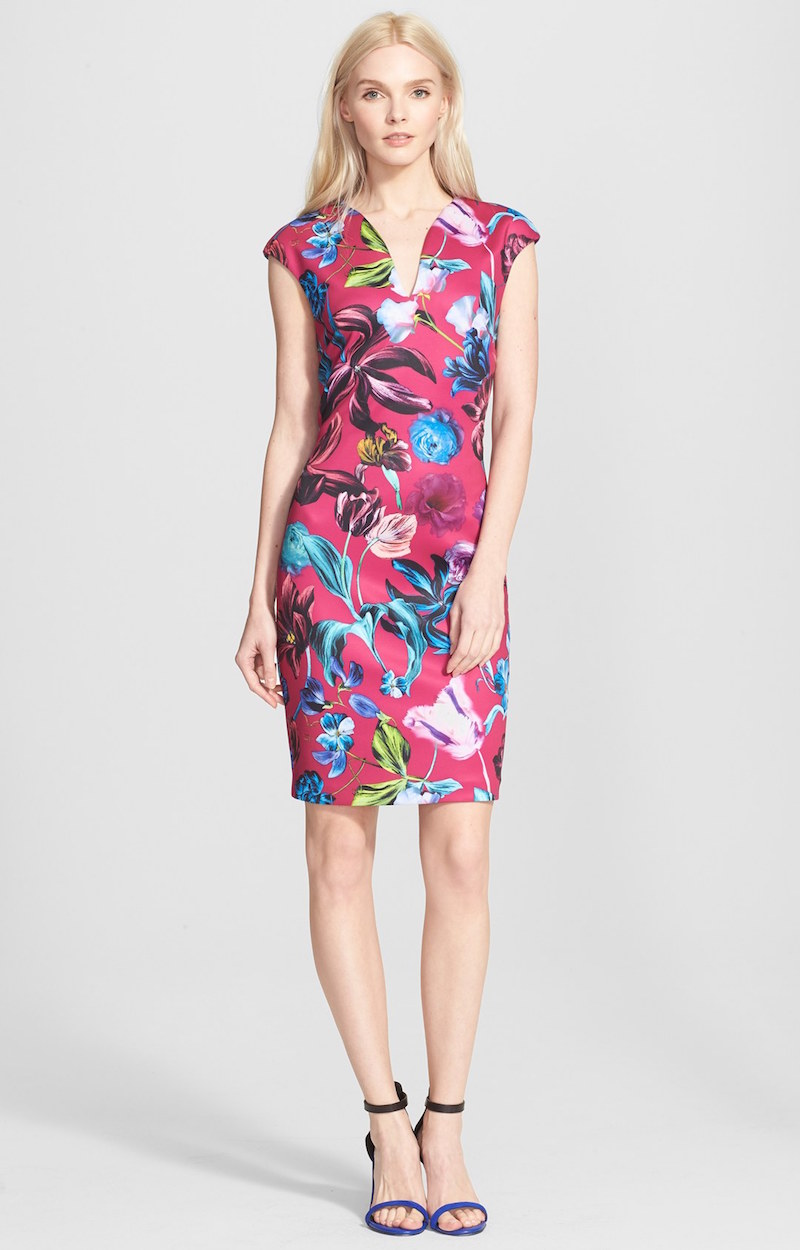 Ted Baker London Arya Floral Print Midi Dress