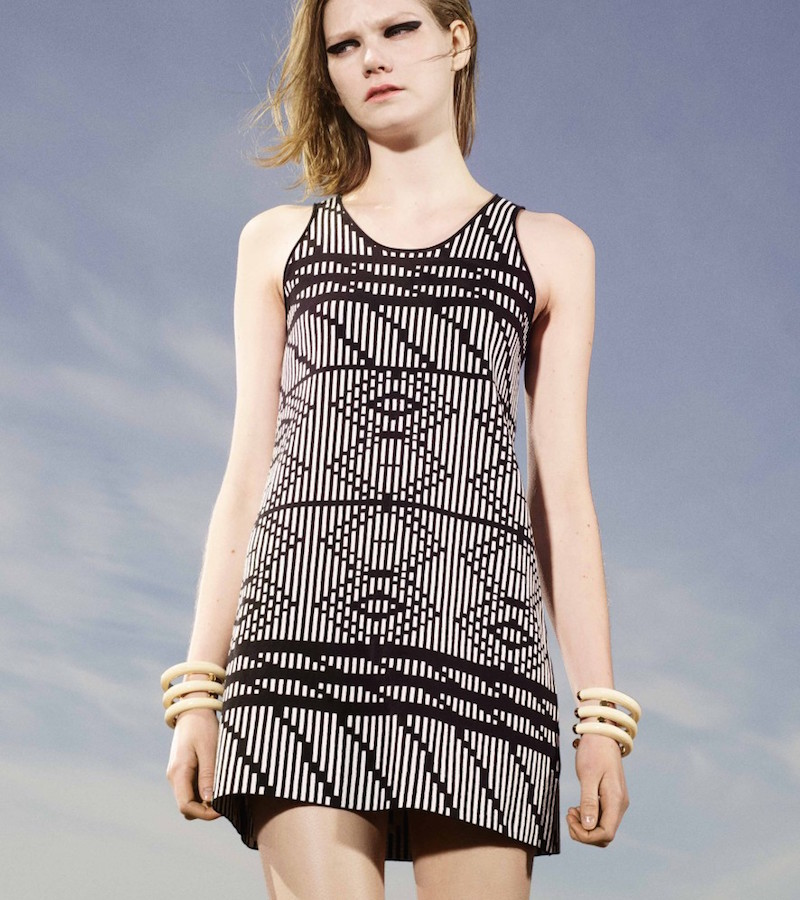 Tess Giberson Mixed Jacquard Sleeveless Dress
