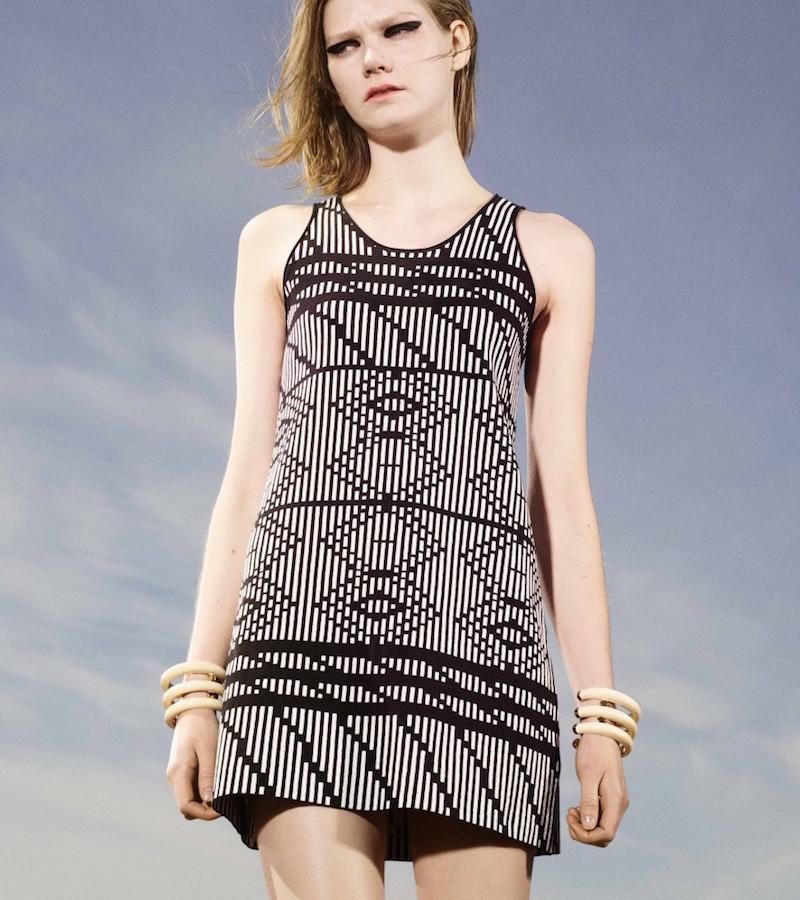 Tess Giberson Mixed Jacquard Sleeveless Dress