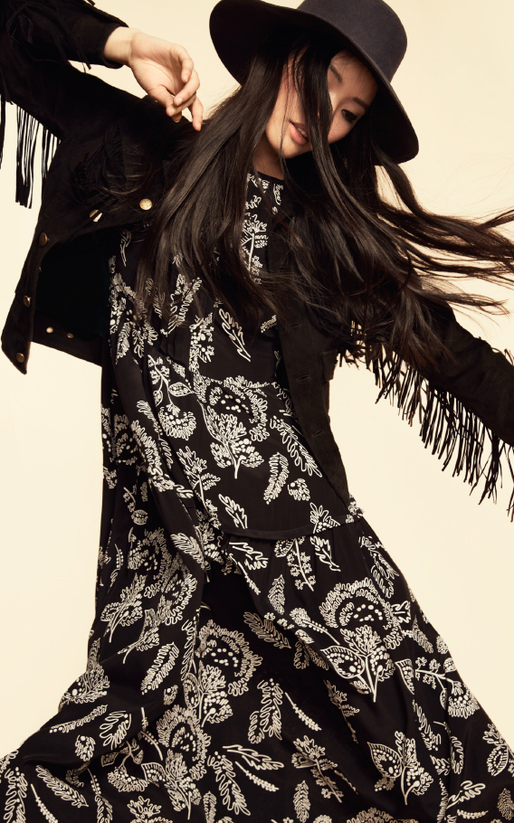 Thakoon Addition Silk Open Shoulder Maxi Dress