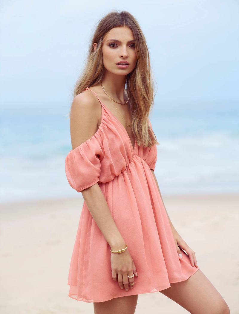 The Jetset Diaries Eternal Off-The-Shoulder Dress