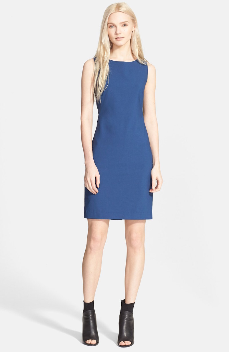 Theory Betty Stretch Wool Sheath Dress