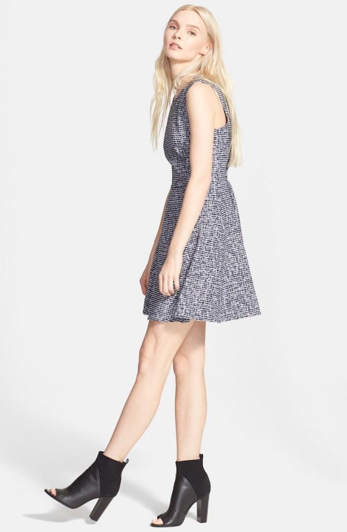 Theory Tillora Bouclé Fit & Flare Dress