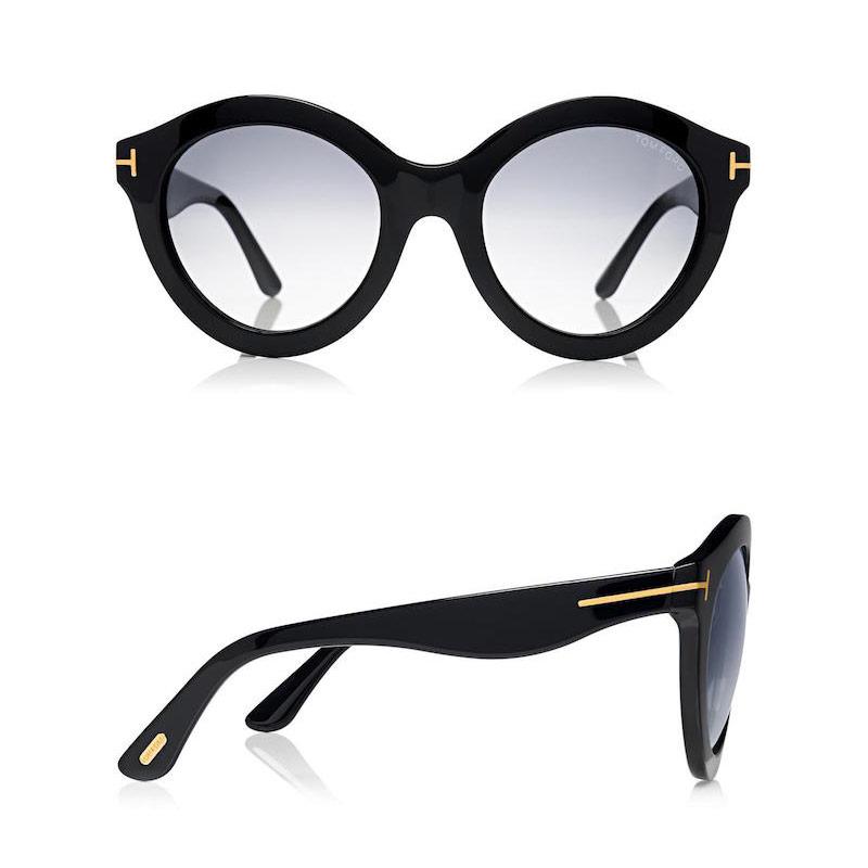 Tom Ford 55MM Chiara Round Sunglasses
