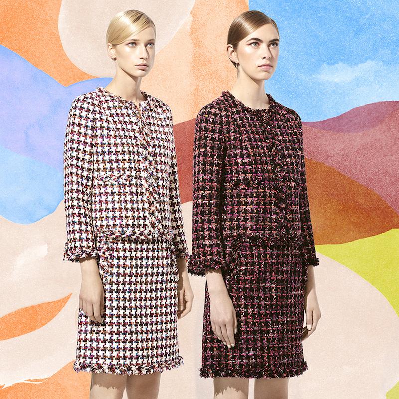 Tomorrowland Fringe-Trimmed Tweed Blazer & Skirt