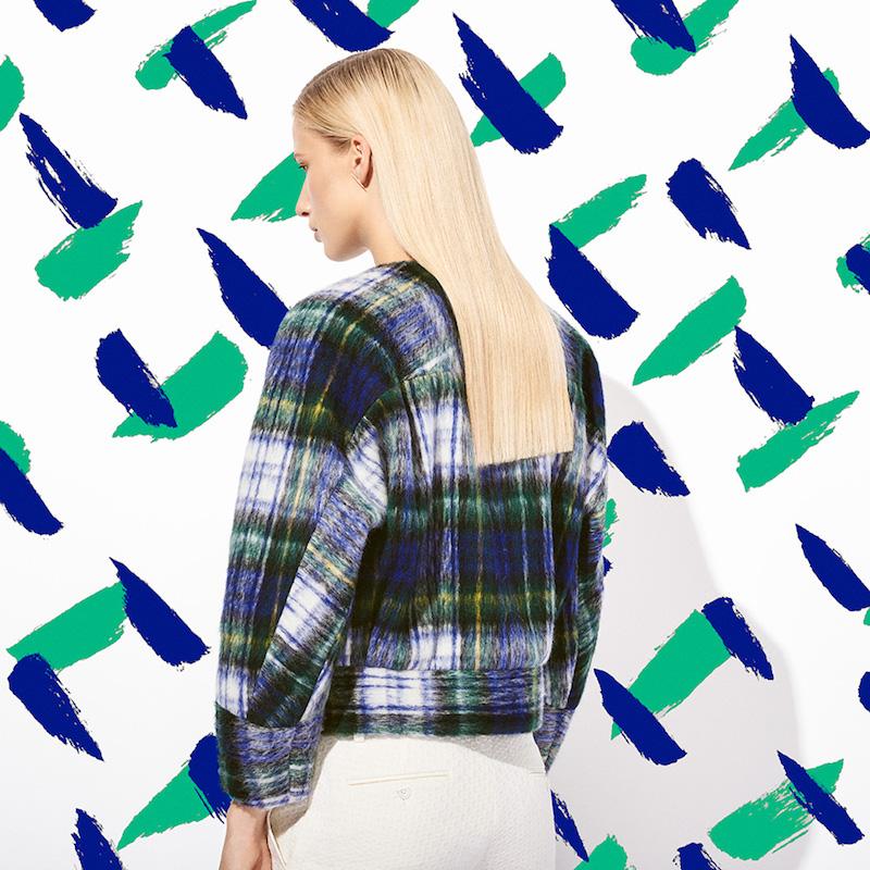 Tomorrowland Plaid Brushed Jacket