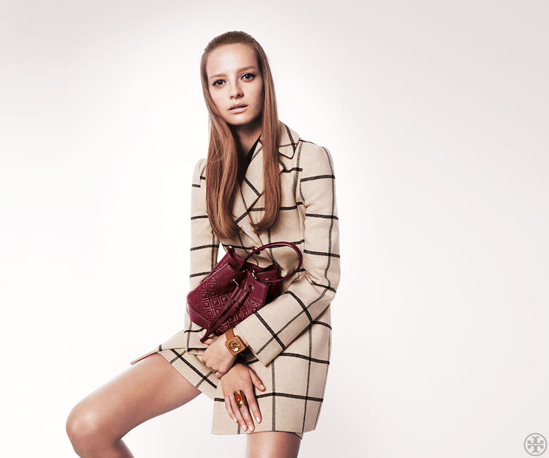 Tory Burch Plaid Short Coat