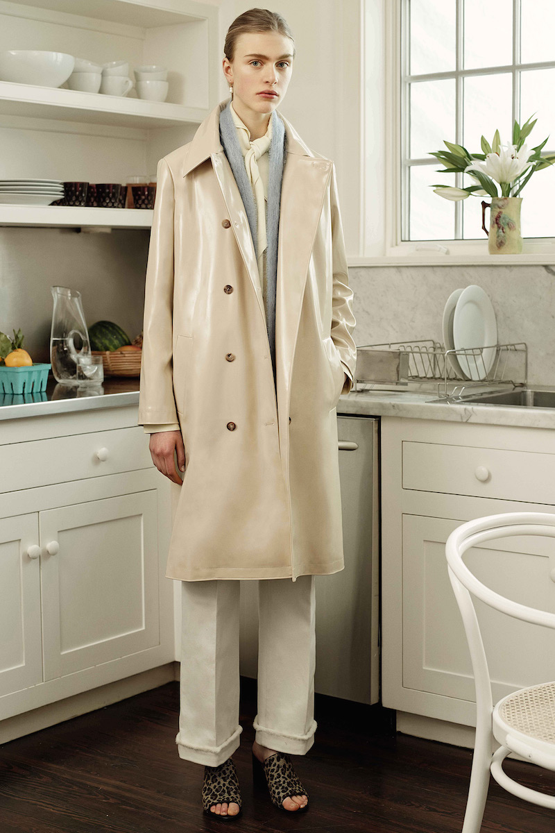 Trademark Double-breasted Trench Coat