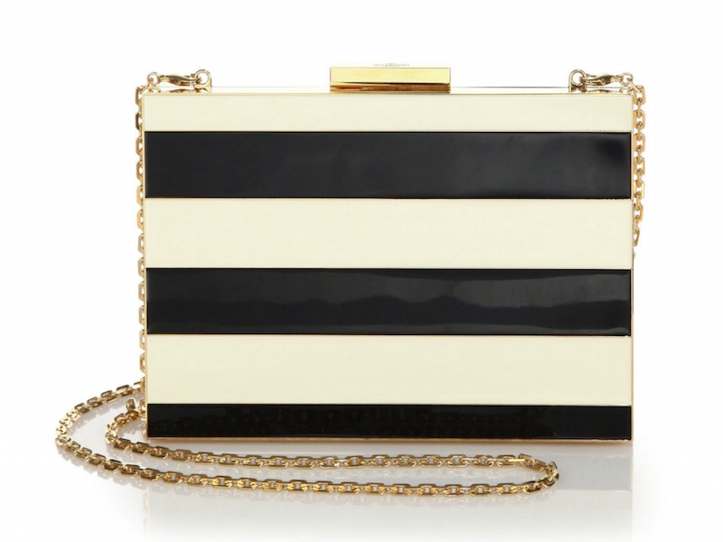 Valentino Minaudiere Striped Clutch