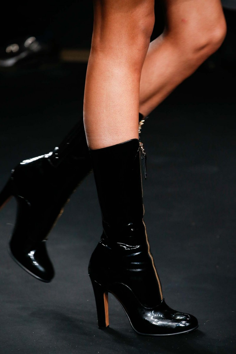 Valentino Rebelle Front-Zip Patent Boot