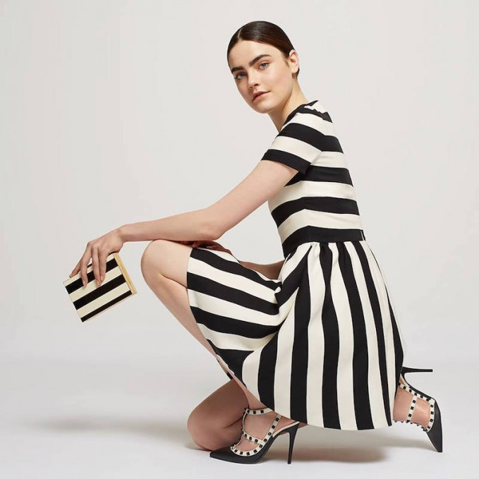 Valentino Striped Bambolina Dress