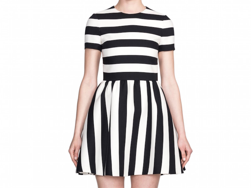 Valentino Striped Bambolina Dress_1