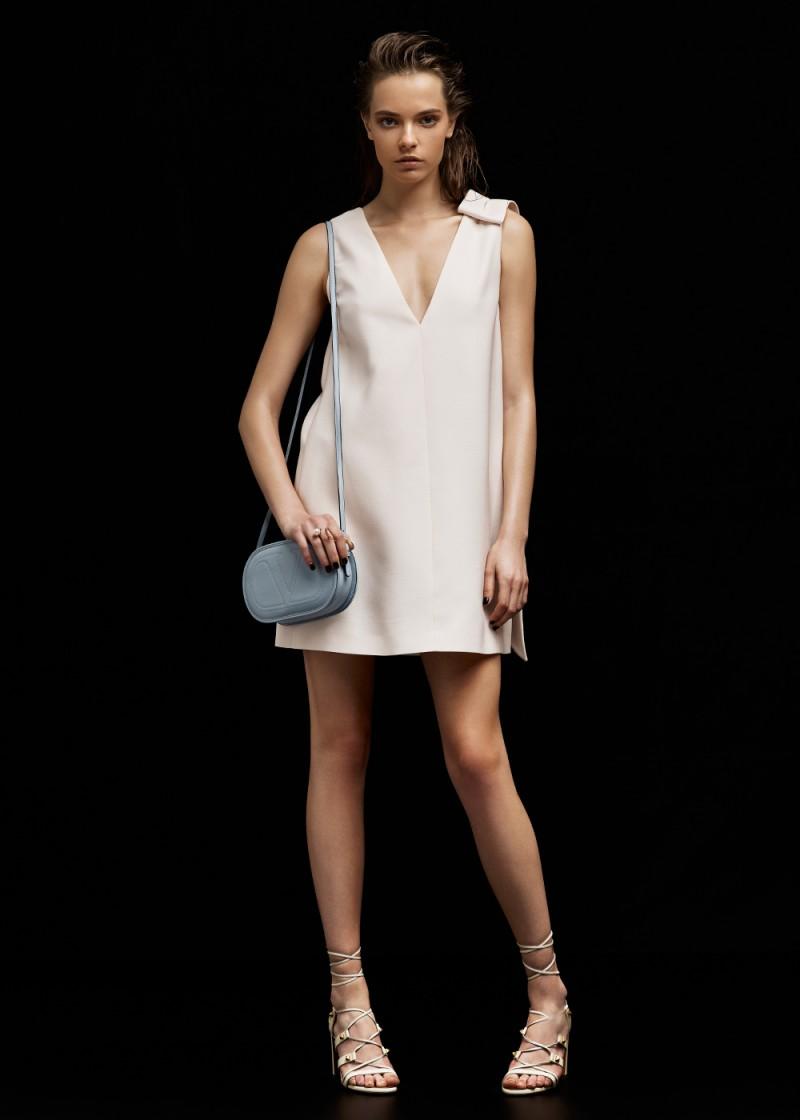 Valentino V Neck Dress with Bow
