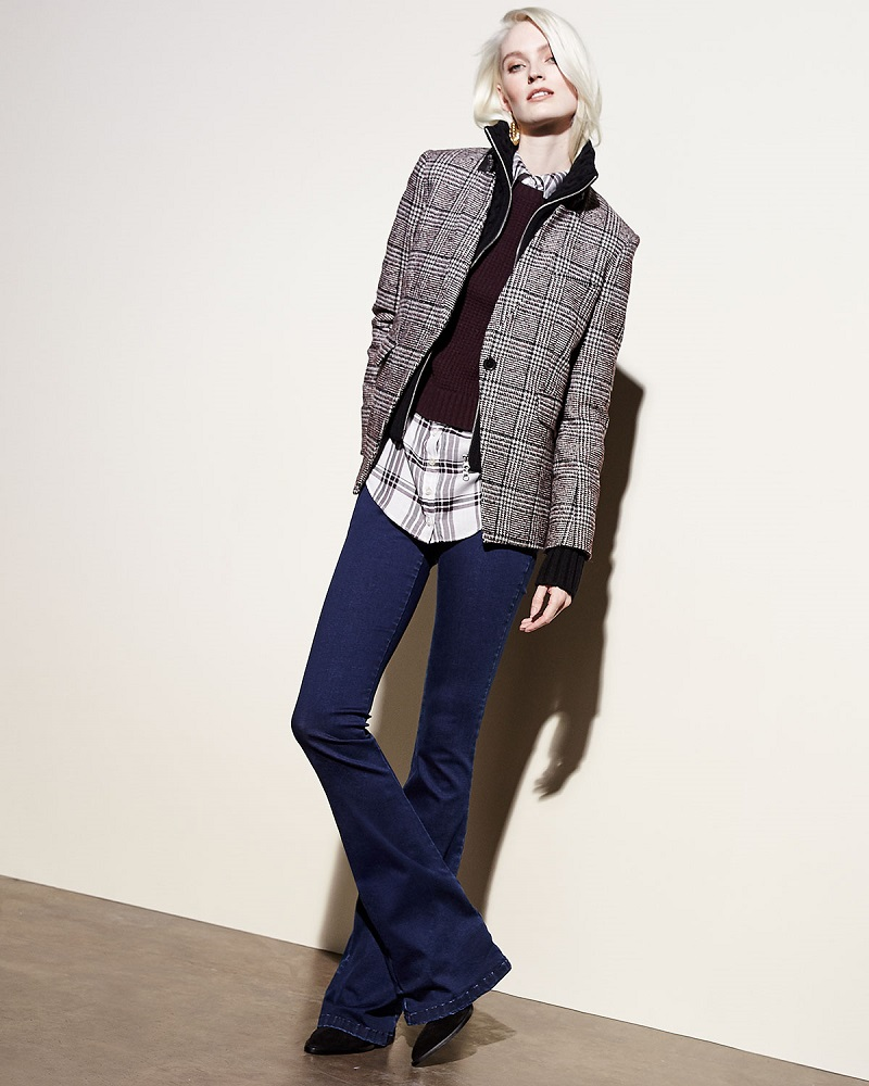 Veronica Beard Cutaway Stand-Collar Jacket with Upstate Knit Dickey