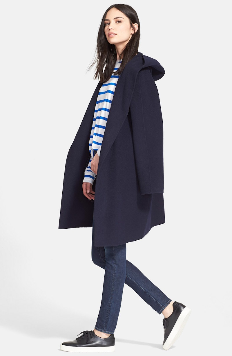 coat shows vogue fashion j drapes drape hooded collection fall vince to wear jcrew ready crew
