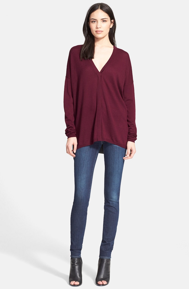 Vince Superwash Colorblock Sweater
