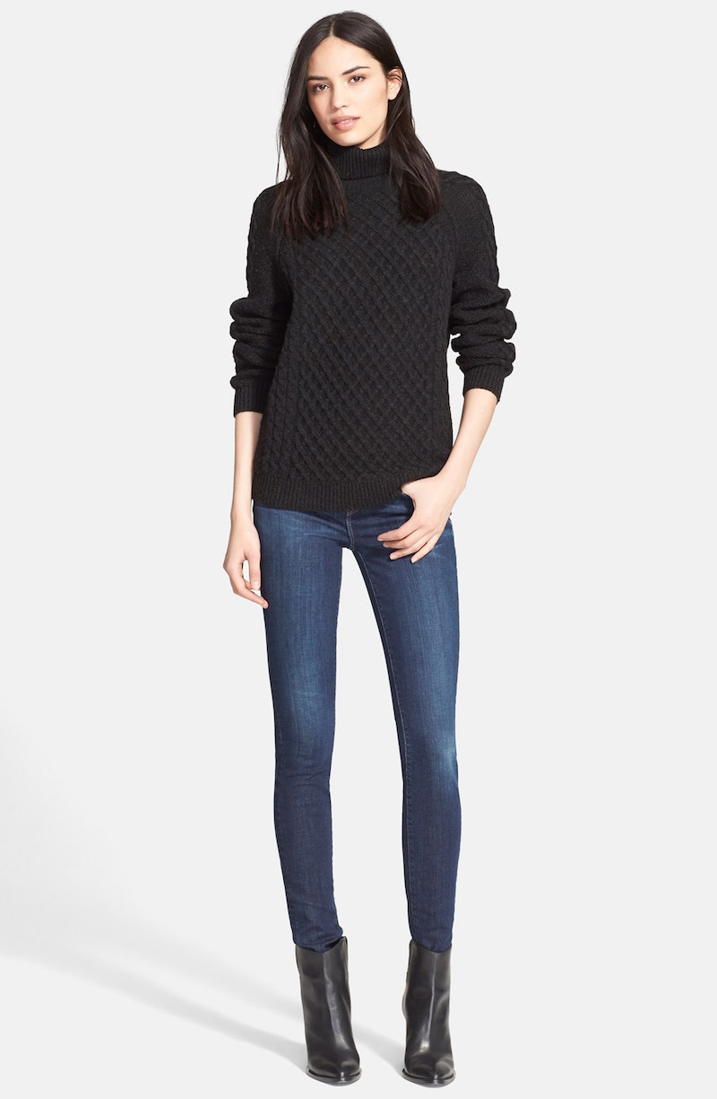 Vince Textured Cable Knit Sweater