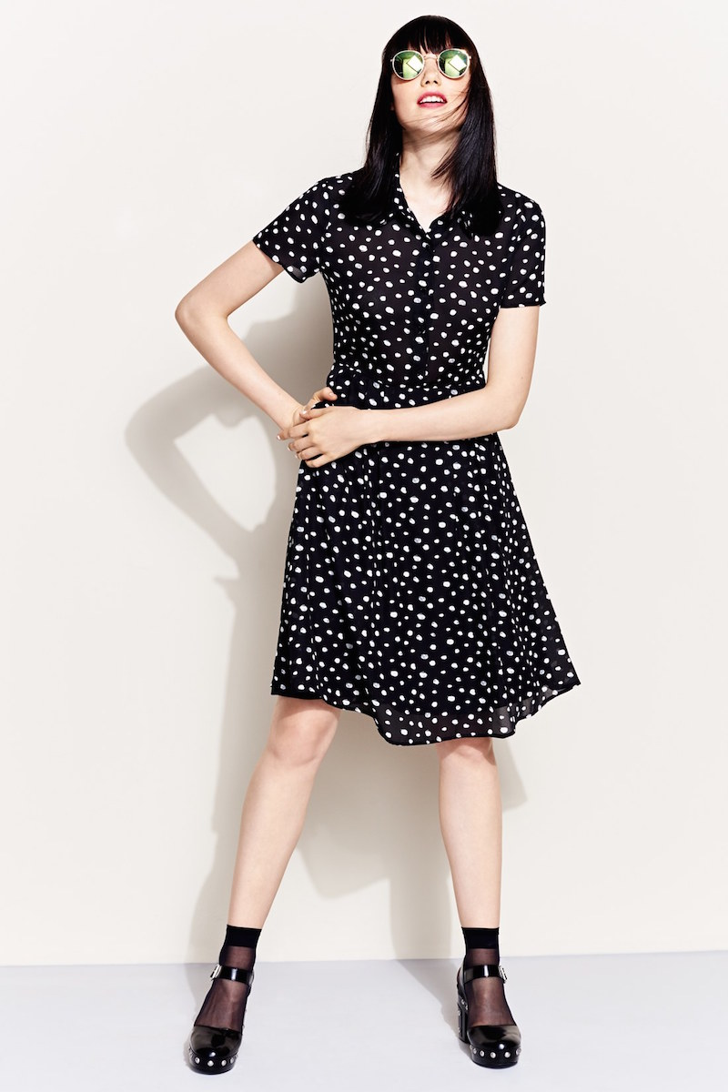 Wayf Pleated Shirtdress