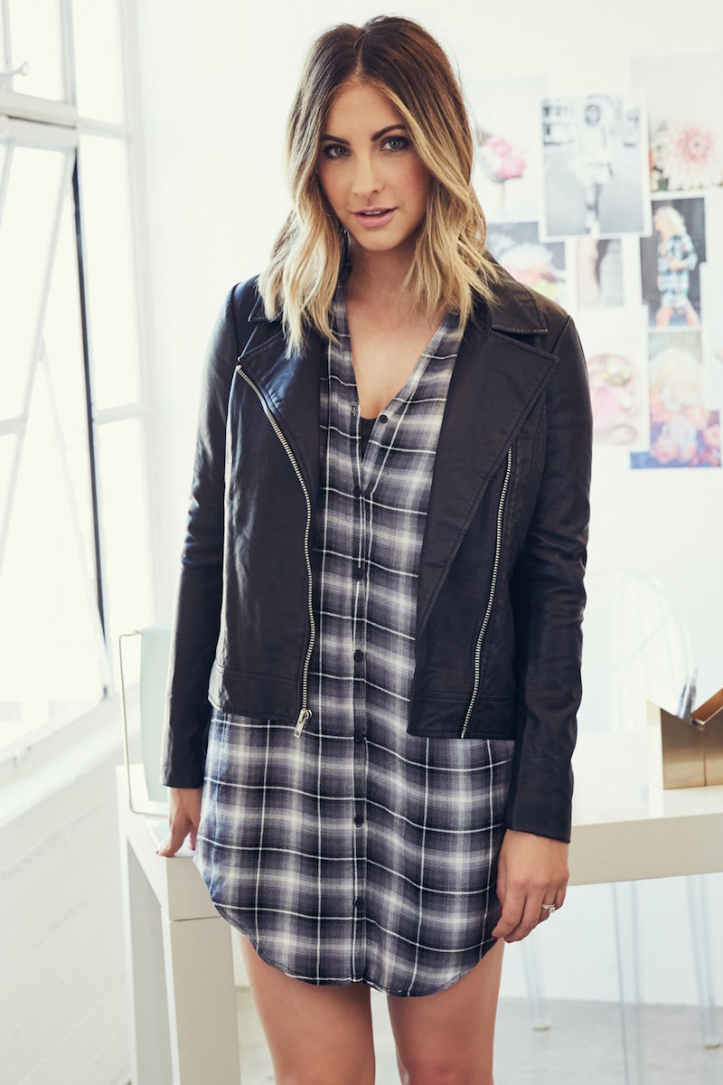 cupcakes and cashmere Union Faux Leather Biker Jacket
