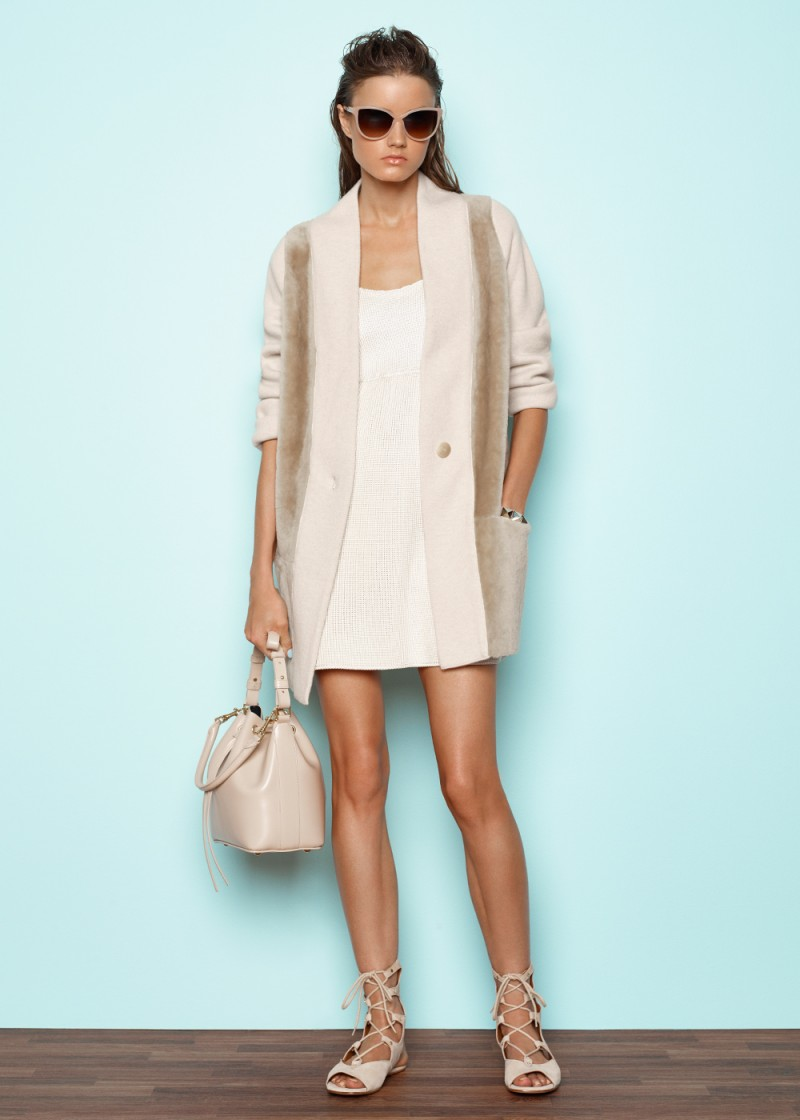 Vince Directional Ribbed Cardigan