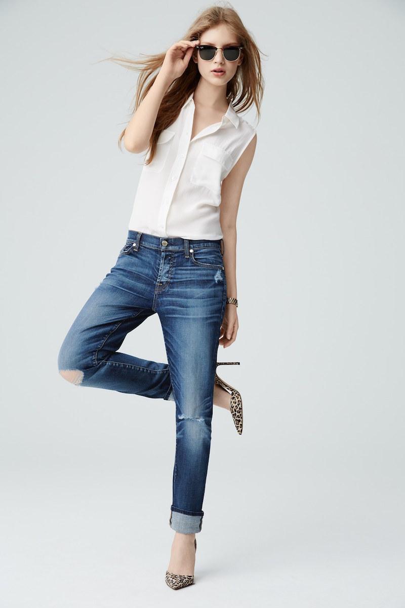 7 For All Mankind Josefina Mid Rise Boyfriend Jeans