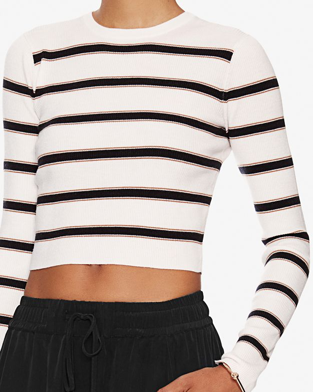 A.L.C. Ollie Striped Knit Crop Top