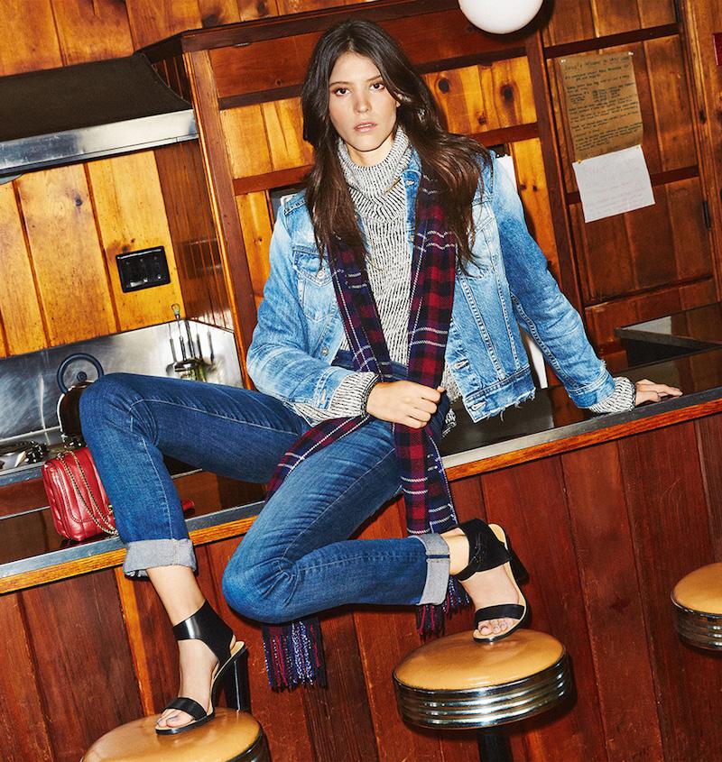 AG The Harper Mid-Rise Straight-Leg Jeans