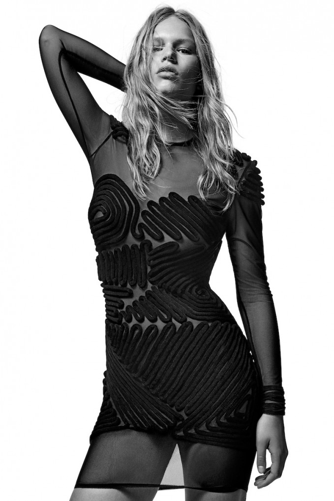 ALEXANDER WANG Spring 2009 Mesh Dress with Graphic Detail