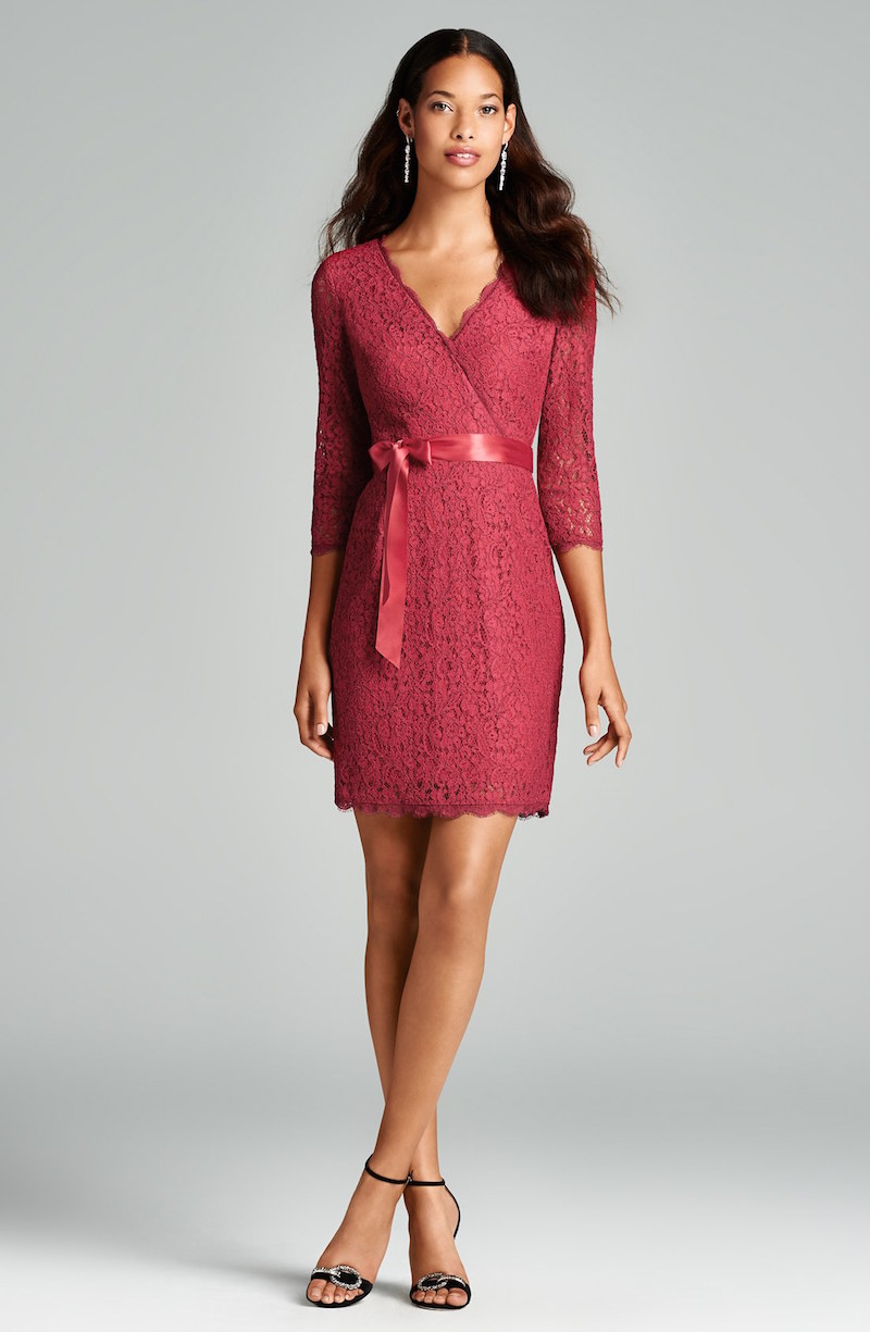 Adrianna Papell Wrap Lace Dress
