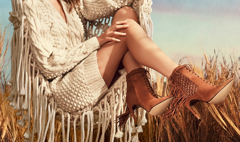Alexandre Birman Katys Crocheted Suede & Watersnake Booties