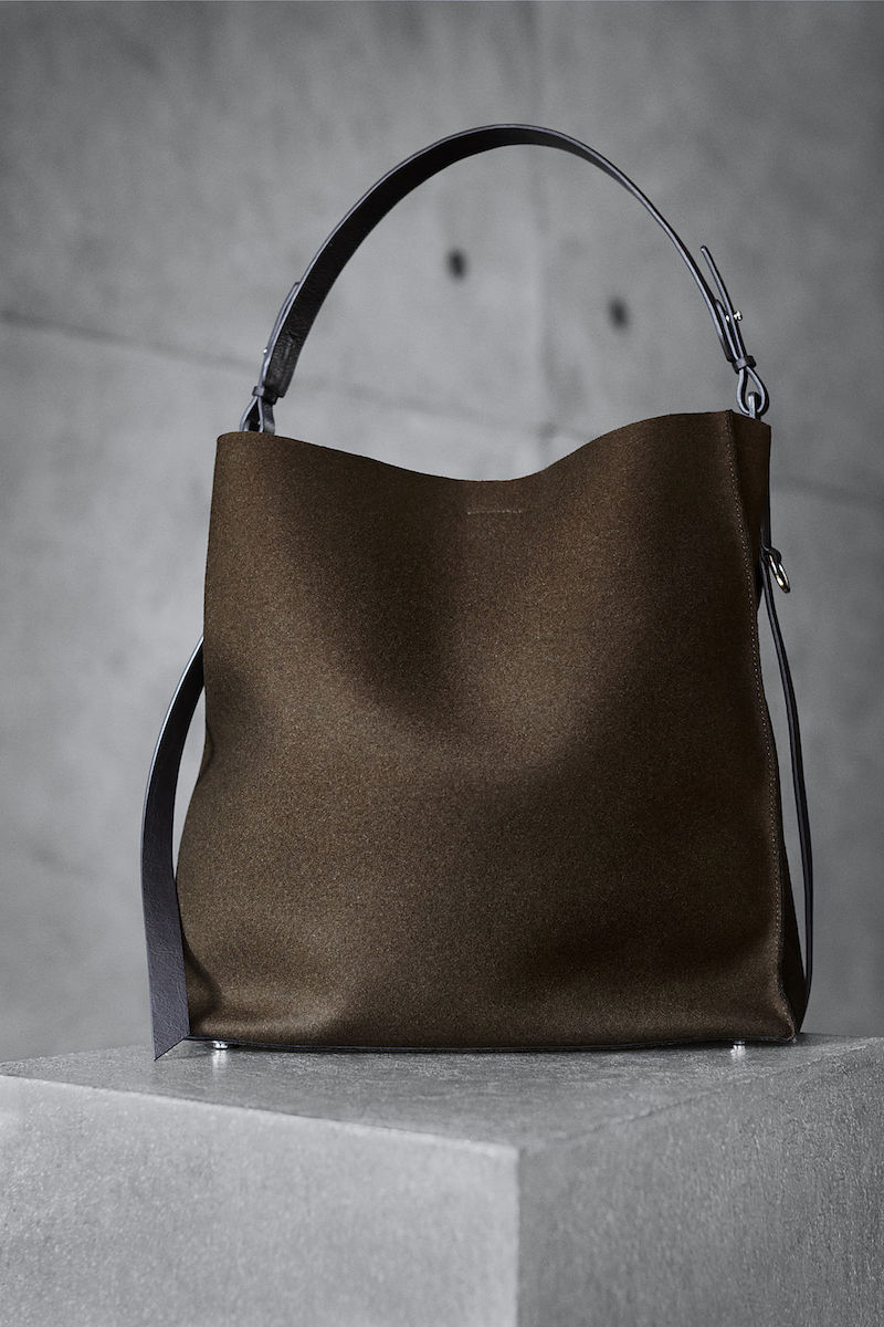 AllSaints Paradise North South Tote Lambs Leather