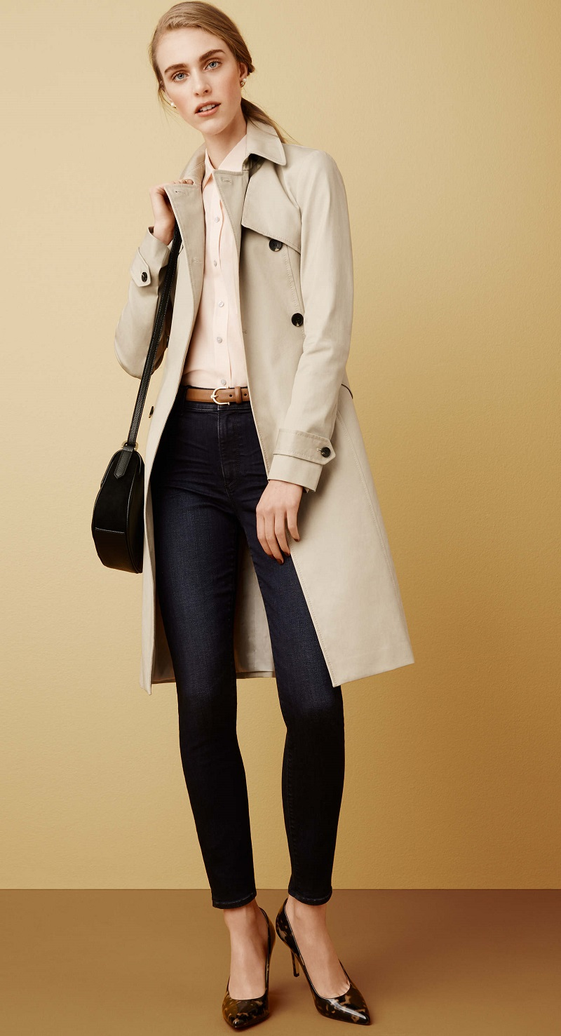 Ann Taylor Petite Classic Trench