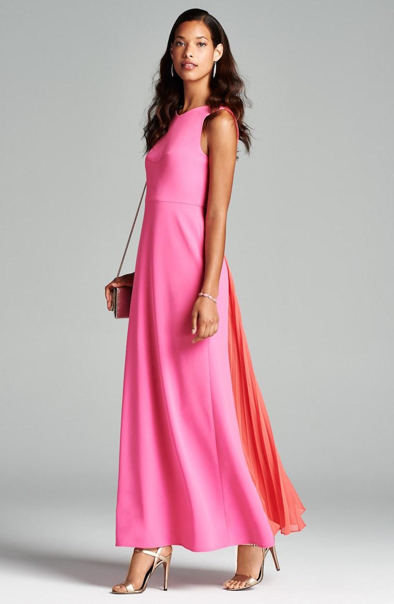 BCBGMAXAZRIA Colorblock Crepe Gown