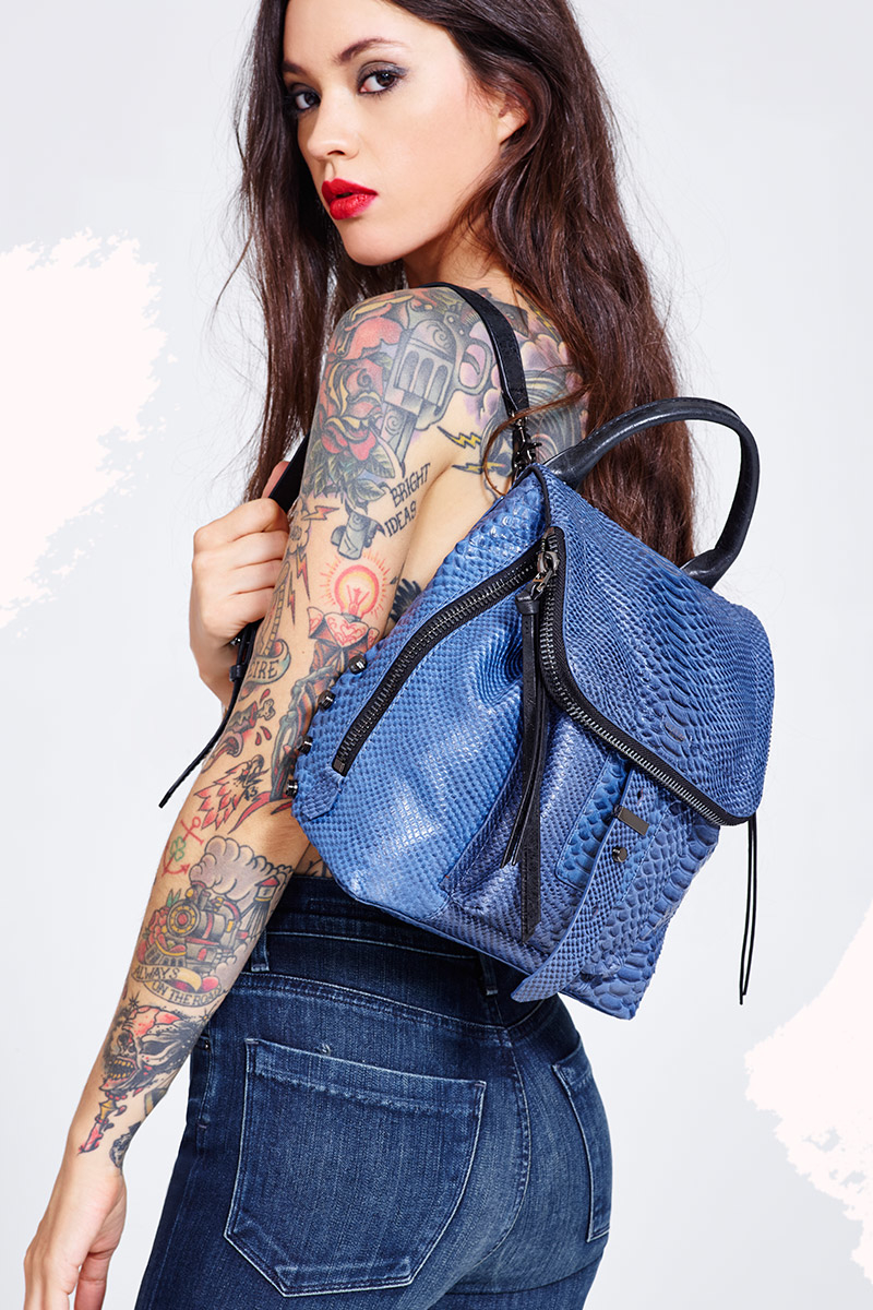 Botkier Warren Blue Leather Backpack