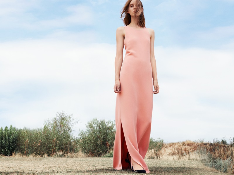 Calvin Klein Collection crisscross strap maxi dress