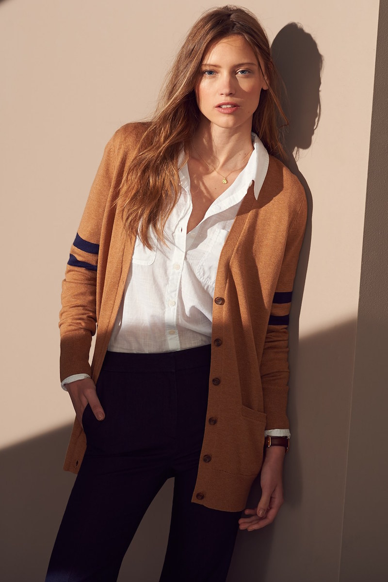 Caslon Collegiate V-Neck Cardigan