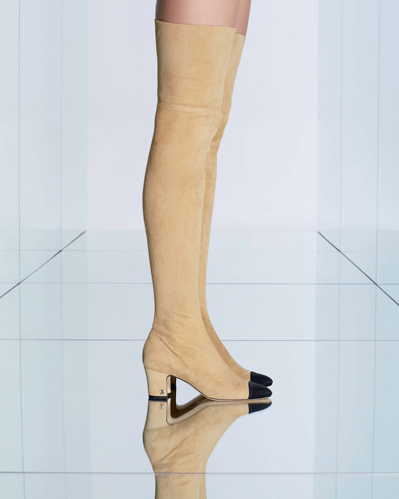 Chanel Suede Over-the-Knee Boot