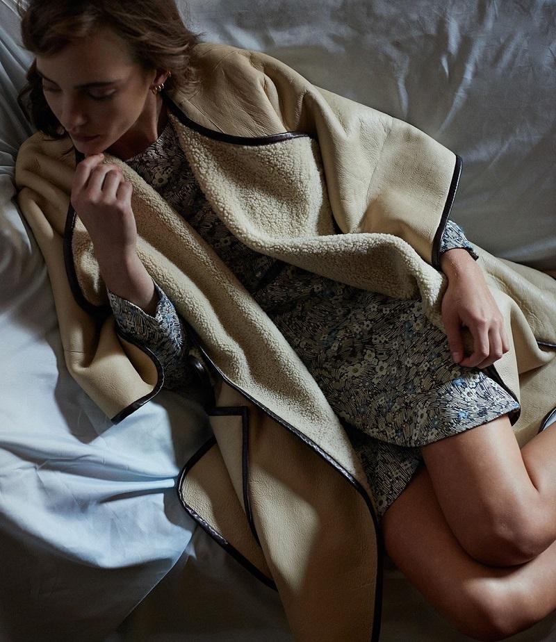 Chloé Reversible Shearling Poncho-Coat