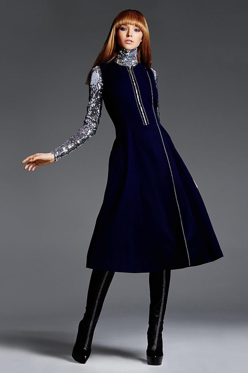 Dior Font-zip Flare Dress